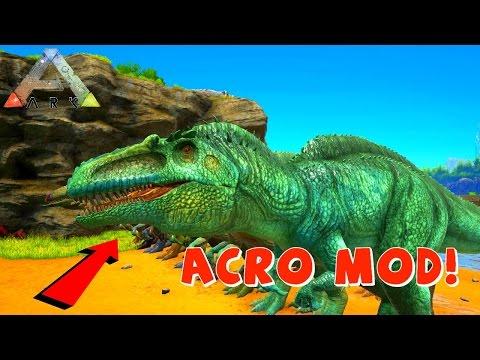 ACROCANTHOSAURUS ! | ARK Survival Evolved Mod Acrocanthosaurus VS Giganotosaurus VS T Rex | ( Acro )