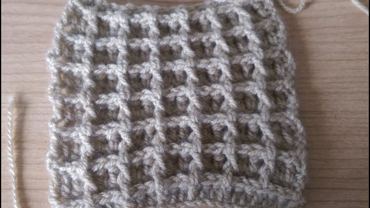 Punto Waffel all uncinetto How to crochet