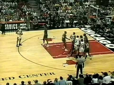 Dennis Rodman (9pts/19rebs/11offensive/5asts) vs. Sonics (1996 Finals)