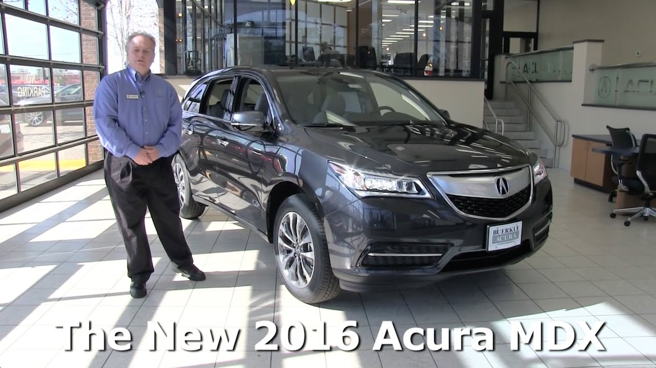 Review: The New 2016 Acura MDX Tech Package - Minneapolis, St Paul