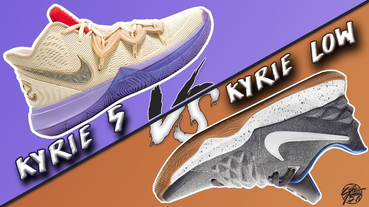 Nike Kyrie 5 vs Kyrie LOW! - YouTube
