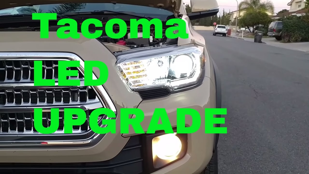 Led Headlight Bulb Upgrade Swap In 2017 Toyota Tacoma