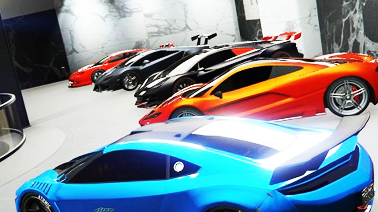 Gta 5 Online Insane 60 Car Office Garage Tour Over 100 Million