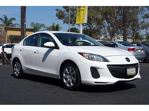 2012 Mazda 3 White/Black $14,489 Hertz Car Sales Costa Mesa 714-434-3721