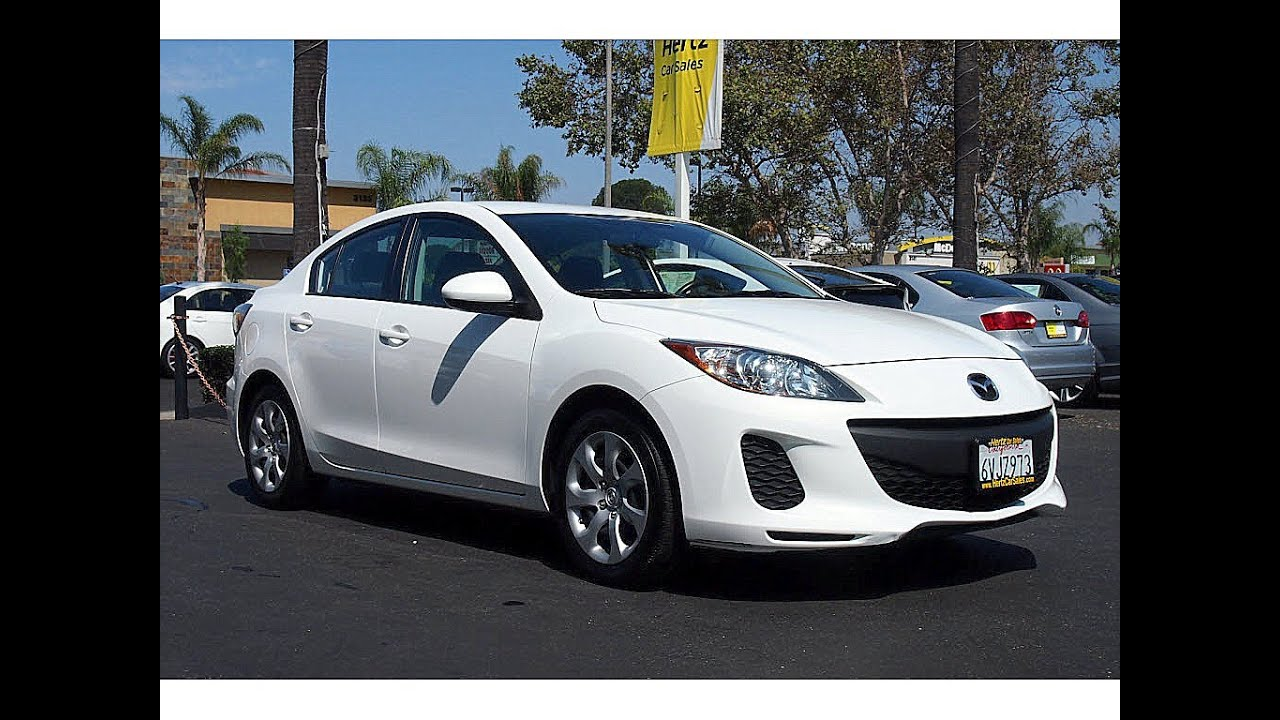 2012 Mazda 3 White Black 14 489 Hertz Car Sales Costa Mesa 714 434 3721