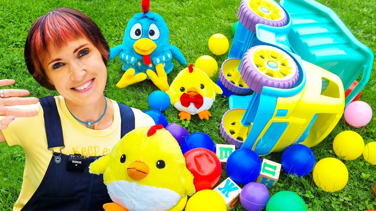 Развивающее видео с игрушками на Капуки Кануки - Давай почитаем -  Маша и КОШКА
