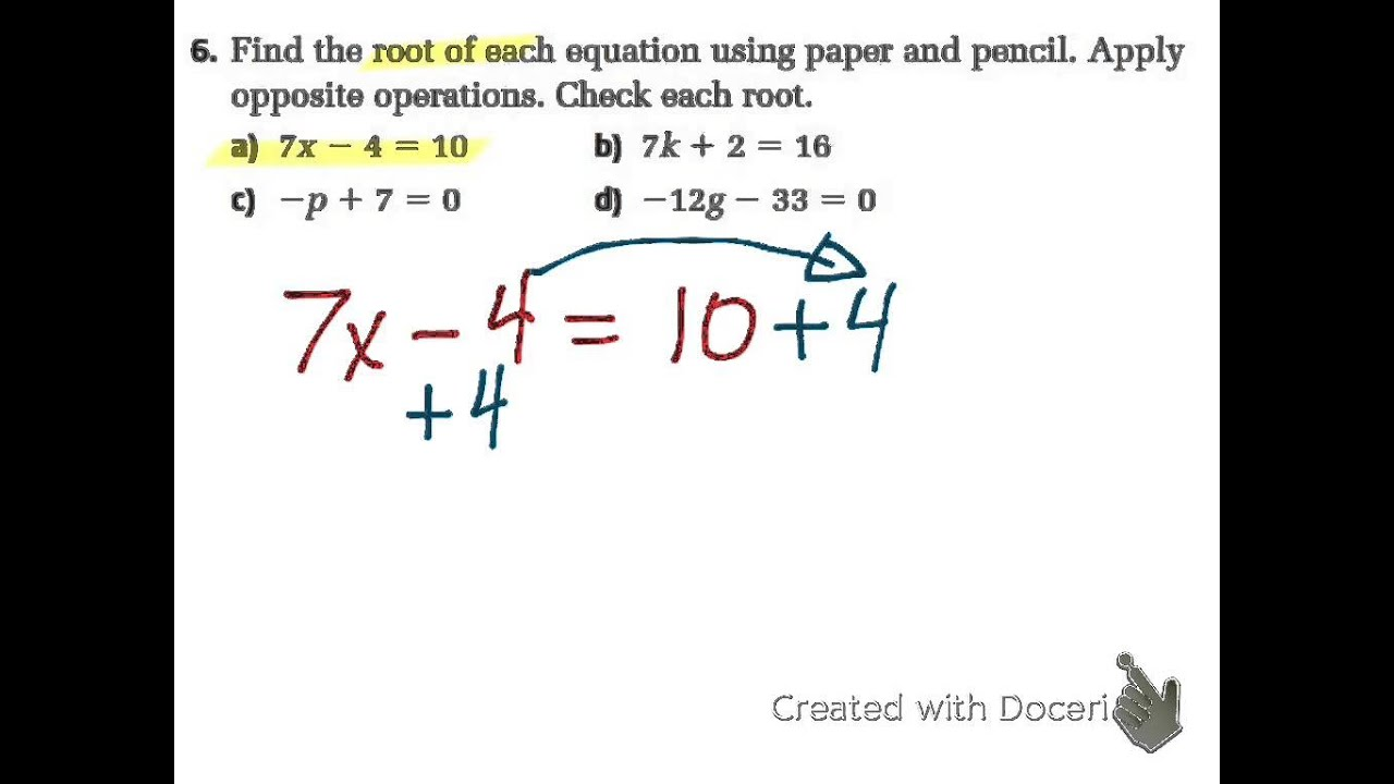 Sec 32 42 Solve Multi Step Equations Mpm1d Grade 9 Math