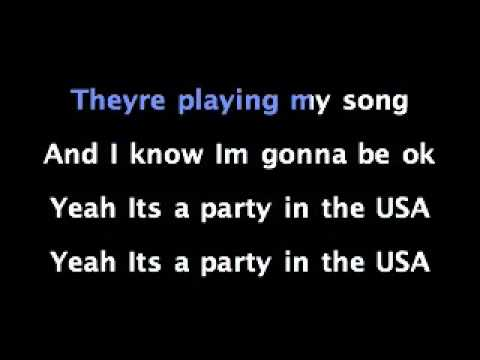 Miley Cyrus PARTY IN THE USA with LYRICS