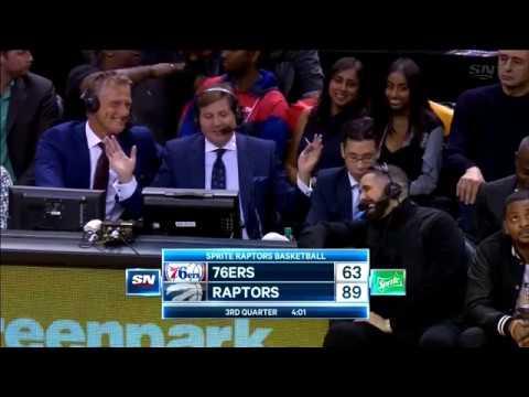 Drake Joins Raptors Announcers - 10/21/2017