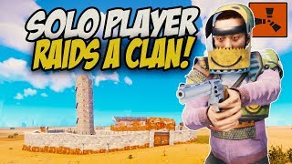 Solo Player Raids a Clan While They're Getting Started! - Rust