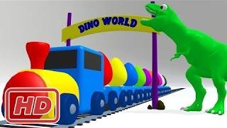 Узнайте цветов с яйца динозавров сюрприз для детей | Видео обучение цвета для малышей малышей