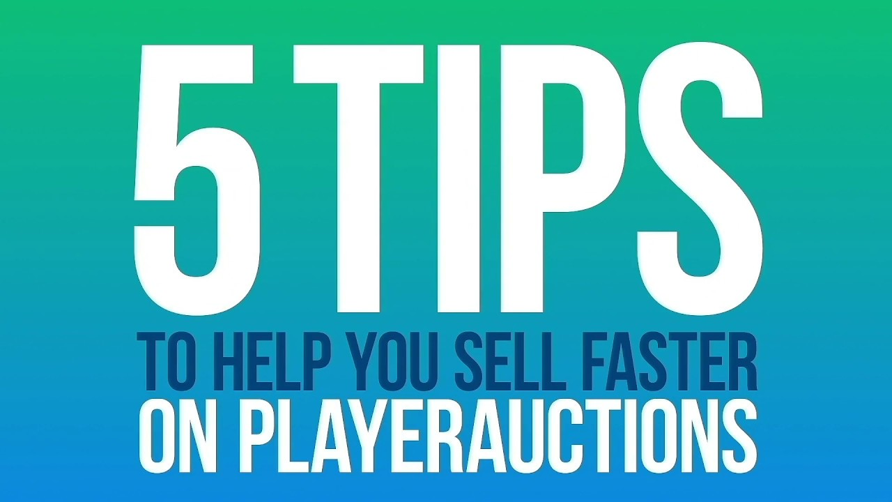How to Sell Your Game Assets Fast for Cash | PlayerAuctions