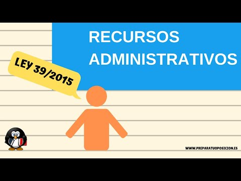 Ley 39/2015. RECURSOS ADMINISTRATIVOS