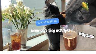 Home Café Vlog | 에어로치노 3 블랙 사용…