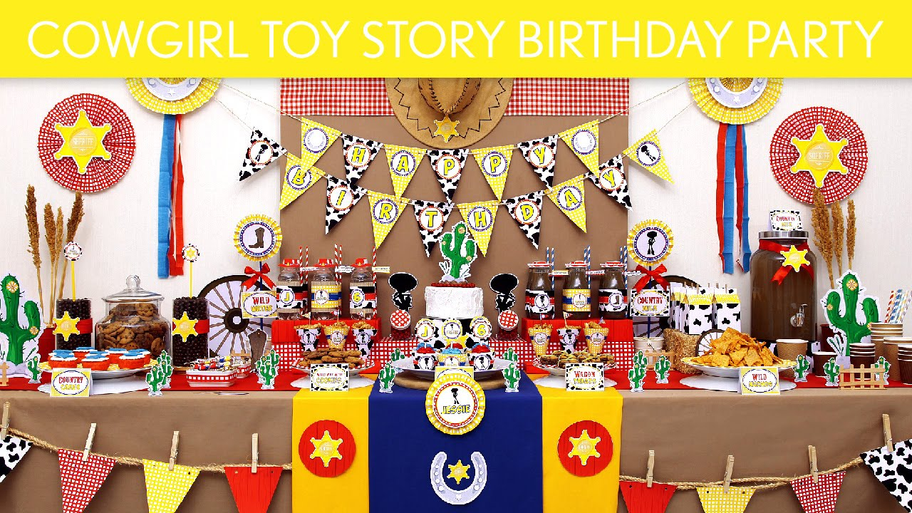 Cowgirl Toy Story Birthday Party Ideas Cowgirl Toy