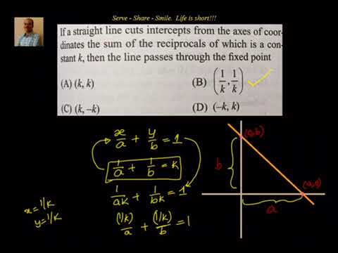 double intercept form  Coordinate Geometry: Straight lines - Two intercept form example
