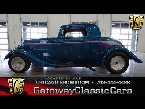 1934 Ford 3 Window Coupe Gateway Classic Cars Chicago #1350