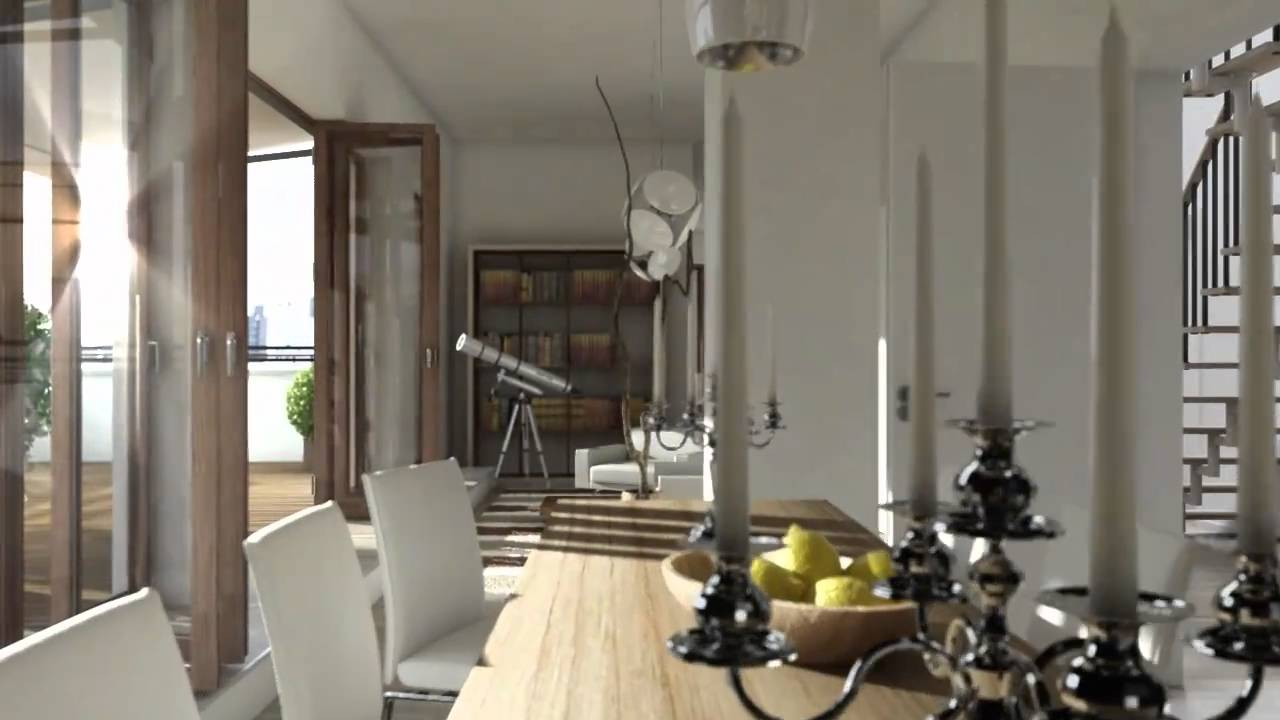 C4d 3d architecture animation interior exterior youtube for Living room cinema 4d