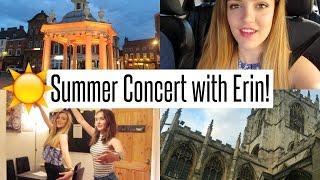 VLOG: Summer Concert with Erin!