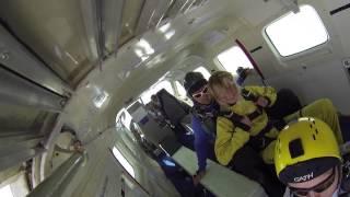 Belgium Tandem Skydiving Spa Freefall parachute jump HD @4000m (13000 feet)