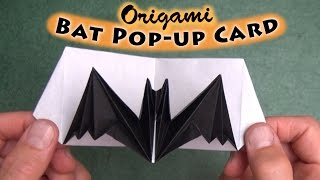 Origami Bat Pop-up Card
