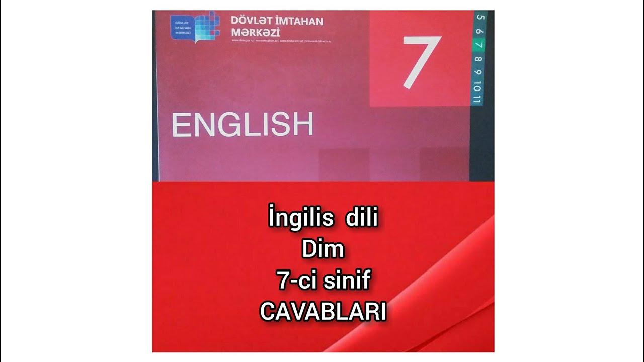 Ingilis Dili 7 Ci Sinif Dim Testinin Suallarinin Cavablari Youtube