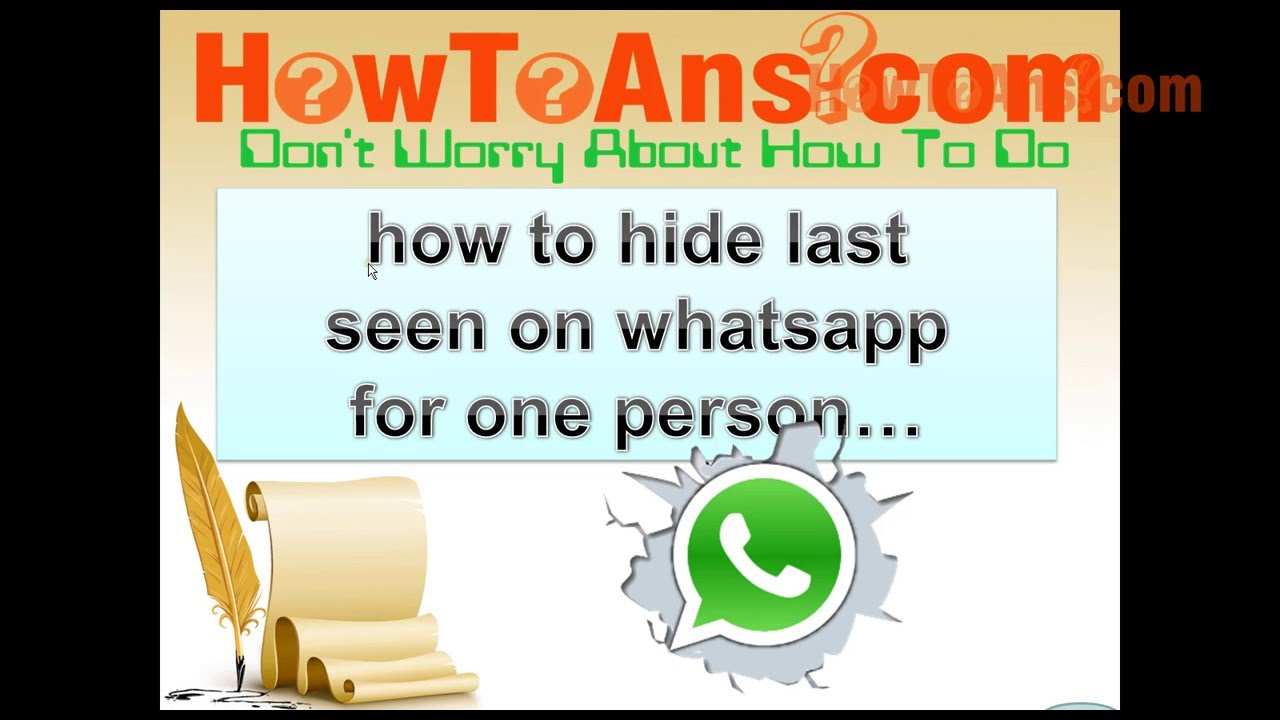 how to stop showing last seen on Whatsapp very easy way