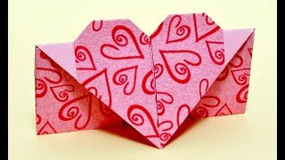 Easy Envelope With Heart. Gift For Easter.  Origami Envelope.
