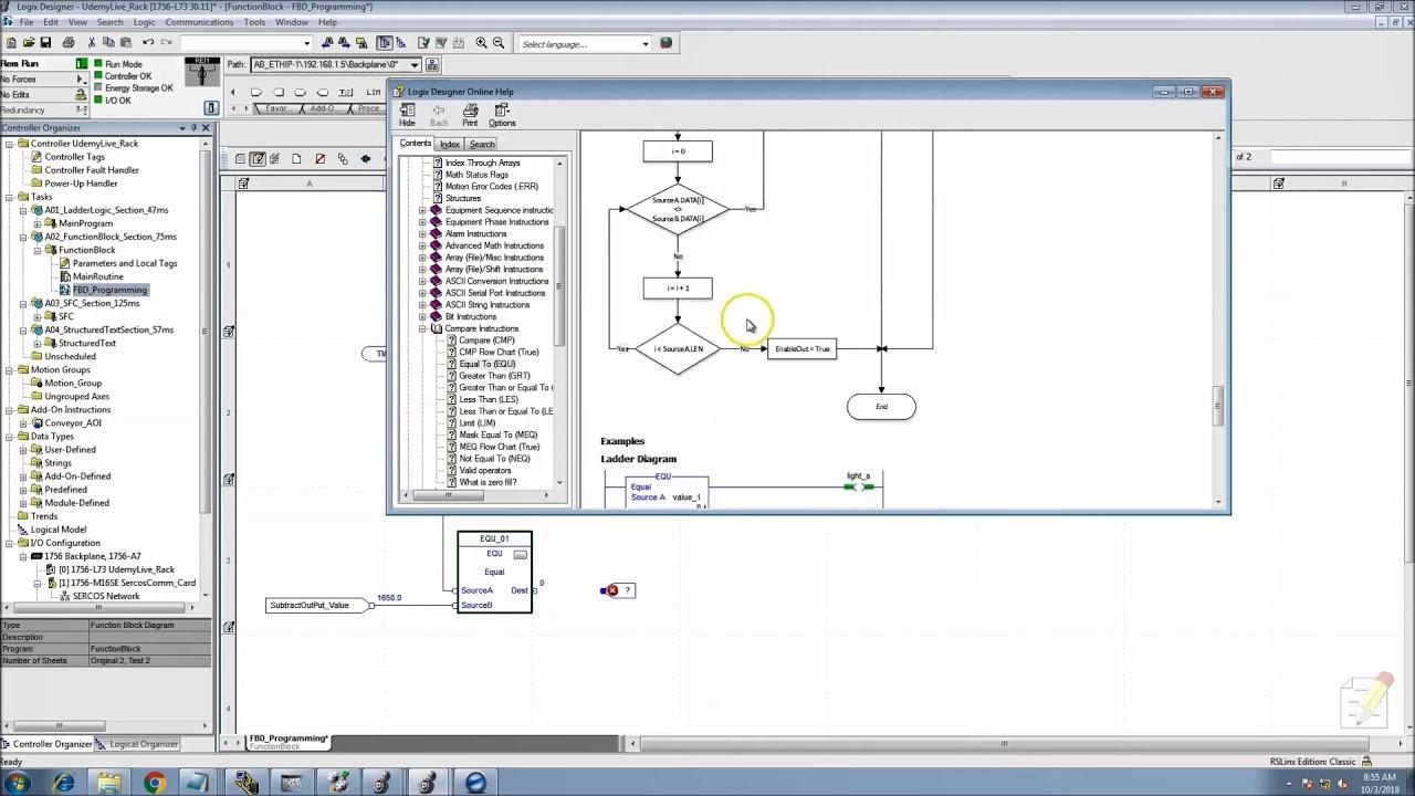 RSlogix 5000 Function Block Diagram Add, Sub, Mul, Div Instructions