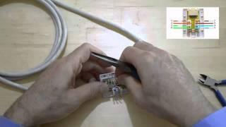 Comment monter et tester un boitier mural RJ45 pour réseau Ethernet ?