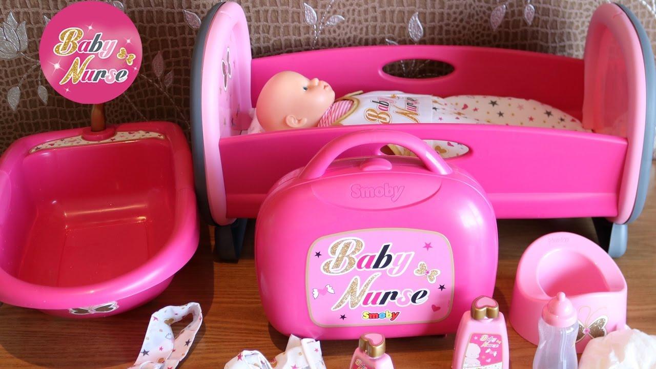 on sale 02f80 813b8 Baby Dolls Nursery Set Kangaroo Bag Vanity Case Bathtub & Sleeping Bag