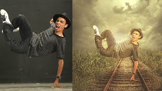Photoshop CC Manipulation Tutorials | Photo Effects Jumping boy