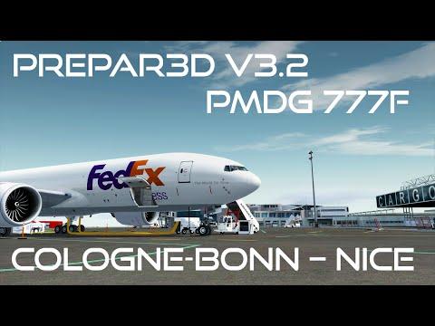 [Prepar3D v3.2/IVAO] Full ATC | Cologne-Bonn (EDDK) - Nice (LFMN) | PMDG 777F | FDX9CV [GERMAN]