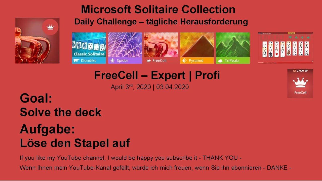 Microsoft Solitaire Collection Tägliche Herausforderung