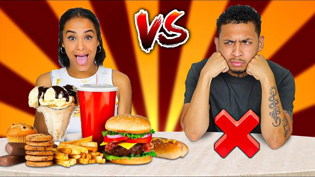FOOD VS NO FOOD CHALLENGE