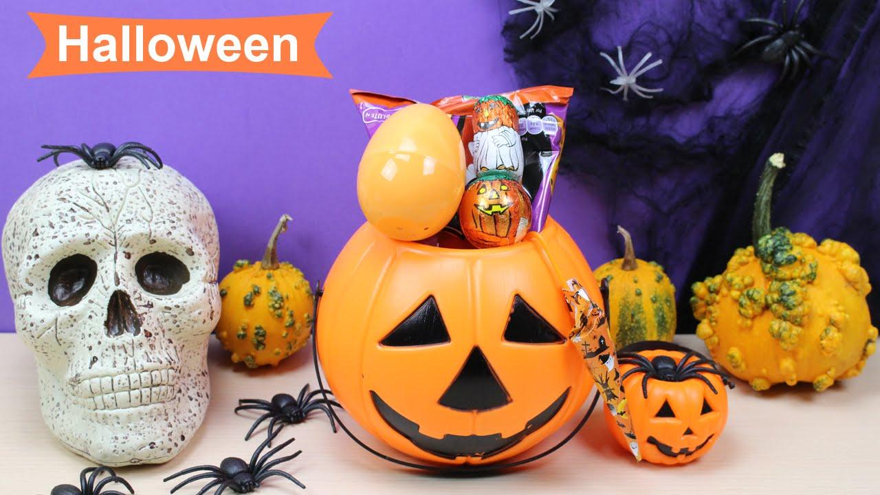 Halloween calabaza sorpresa para ni os chuches espa olas - Calabazas halloween originales para ninos ...