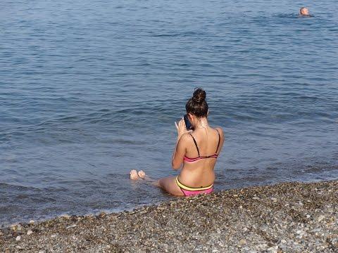 Пляжи Финского залива  пляж Александрия в Петергофе