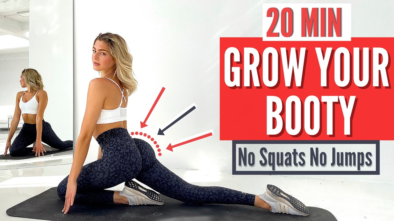 20 MIN. GROW YOUR BOOTY  - on the floor // NO SQUATS NO JUMPS | build booty not thighs | Mary Braun