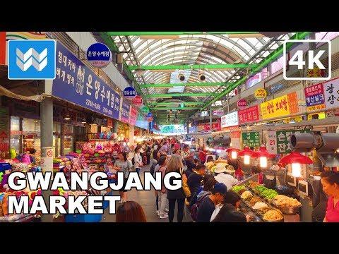 Walking around Gwangjang Market in Seoul, South Korea 【4K】 🇰🇷