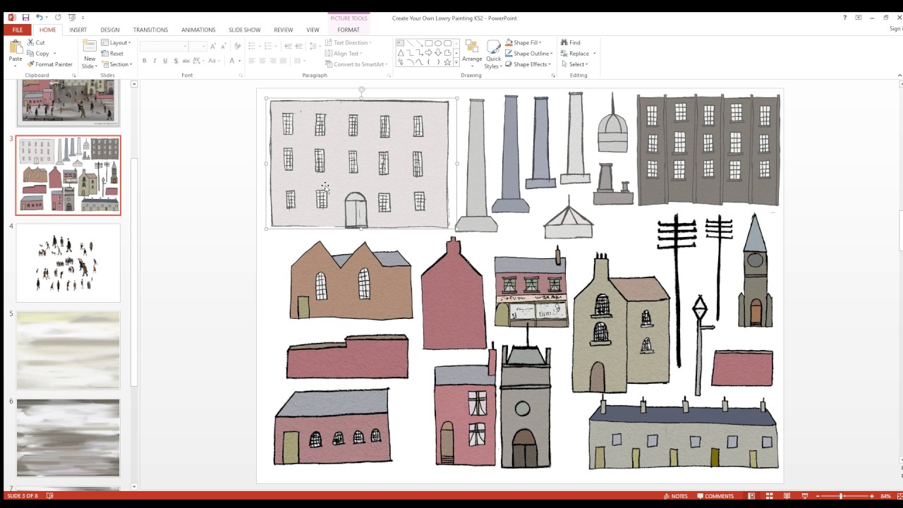 create your own lowry painting ks2 powerpoint youtube