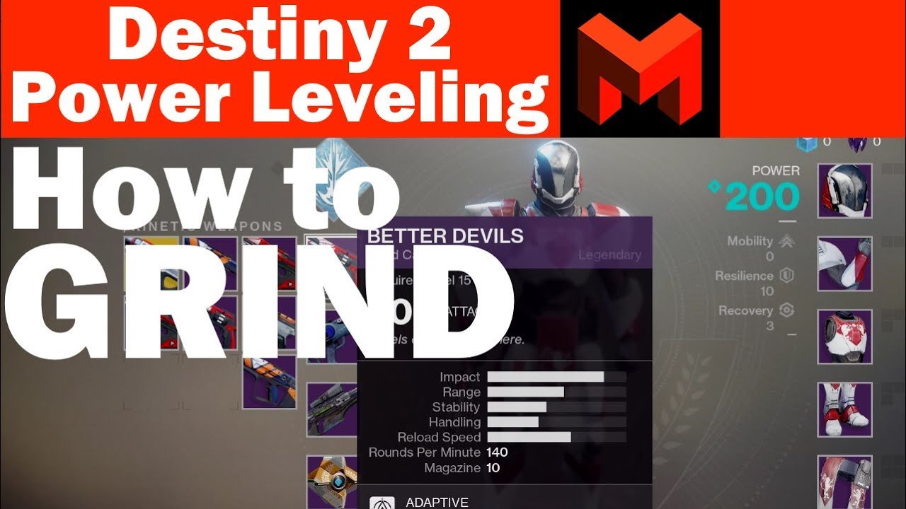 destiny 2 how to power level grinding guide youtube