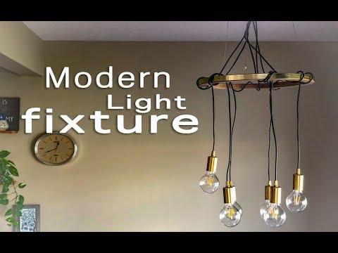 DIY Modern Light Fixture// Lighting Hack