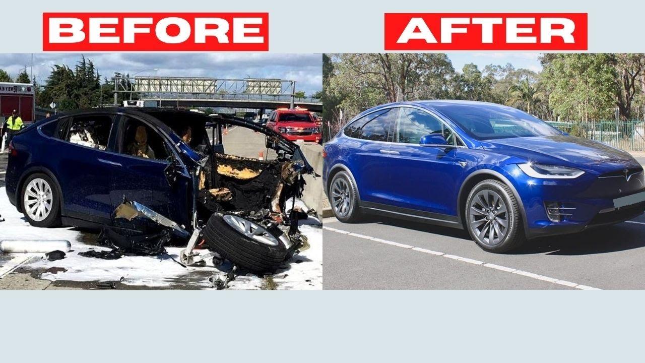 Rebuilding WRECKED Tesla Model X [FULL PROCESS] (VIDEO #110)