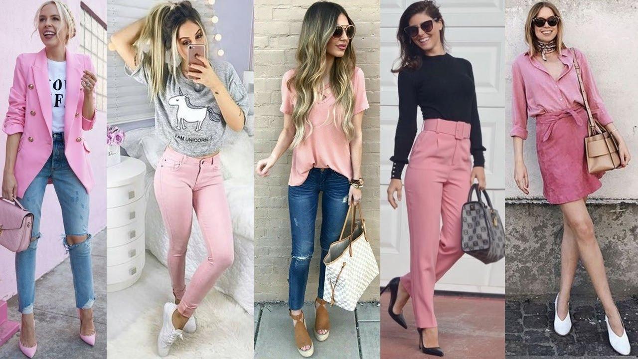 Outfit Color Rosa Palo Y Rosa Pastel 2020 Ideas Para Combinar Tus Prendas Rosa Primavera Verano Youtube