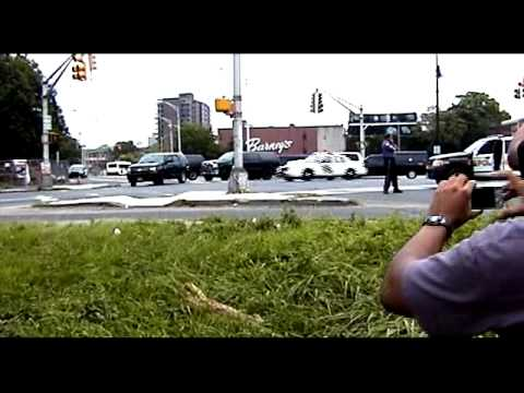 President Obama visits Paterson  New Jersey after hurricane Irene. Filmed by John Richards