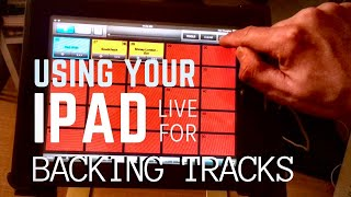 How to Use an iPad/Tablet/Phone for Live Backing Tracks