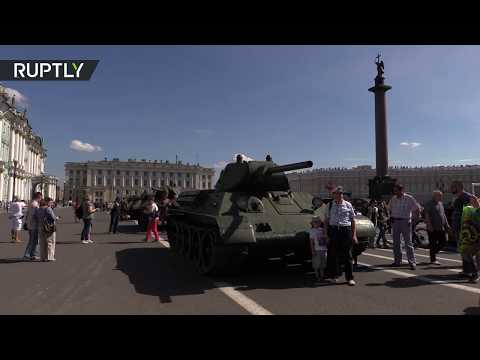 WWII tanks rolled out on streets of St. Petersburg to commemorate Leningrad Siege