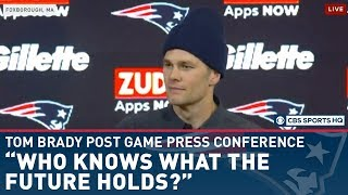 Tom Brady addresses future after Patriots fall to Titans in Wild Card round | CBS Sports HQ