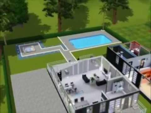Sims 3 Construction D Une Maison Moderne Youtube