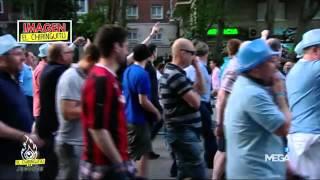 Los aficionados del City la lían en el centro de Madrid